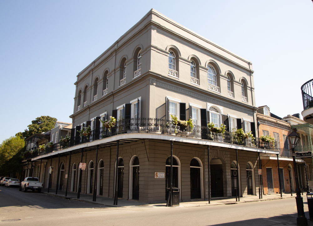 A street view of LaLaurie Mansion.