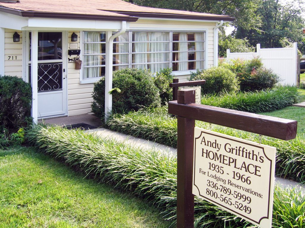 The childhood home of Andy Griffith, a perfect stop on any North Carolina road trip.