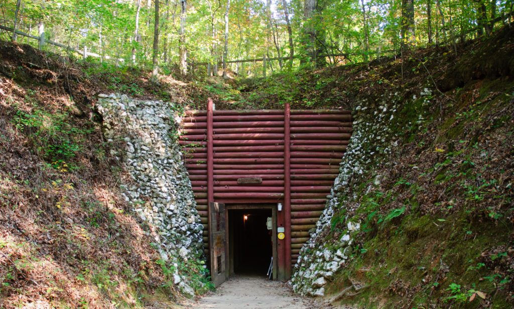 The entrance to the Reed Gold Mine, a perfect stop on a North Carolina road trip.