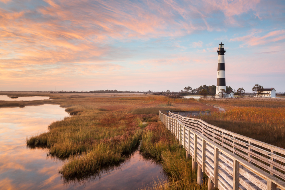 Nags head is one of the prettiest towns in North Carolina