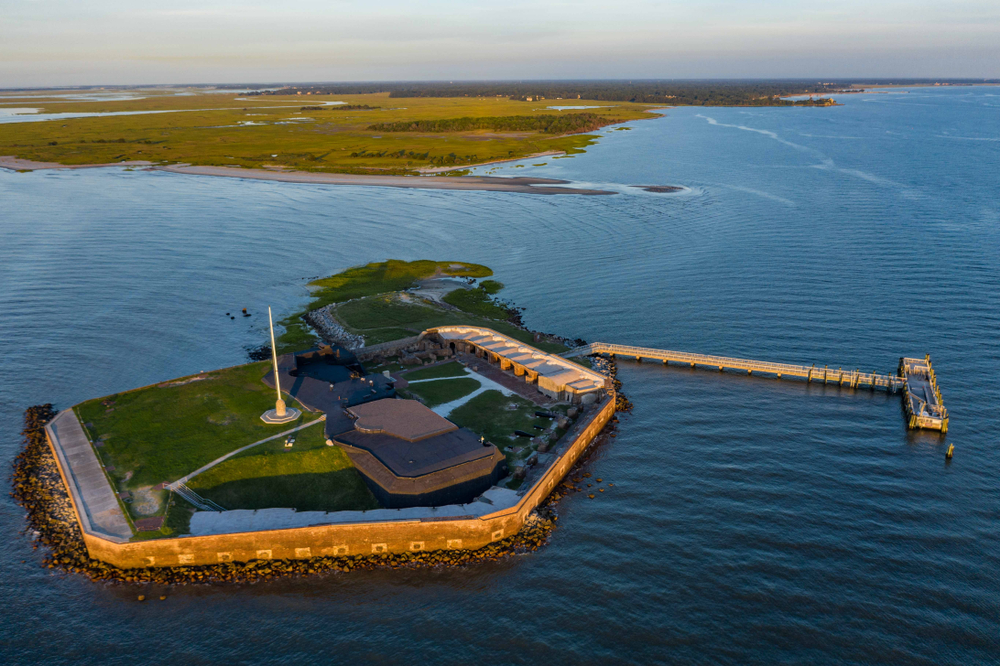 Head to Fort Sumter National Monument in Charleston for a historical visit