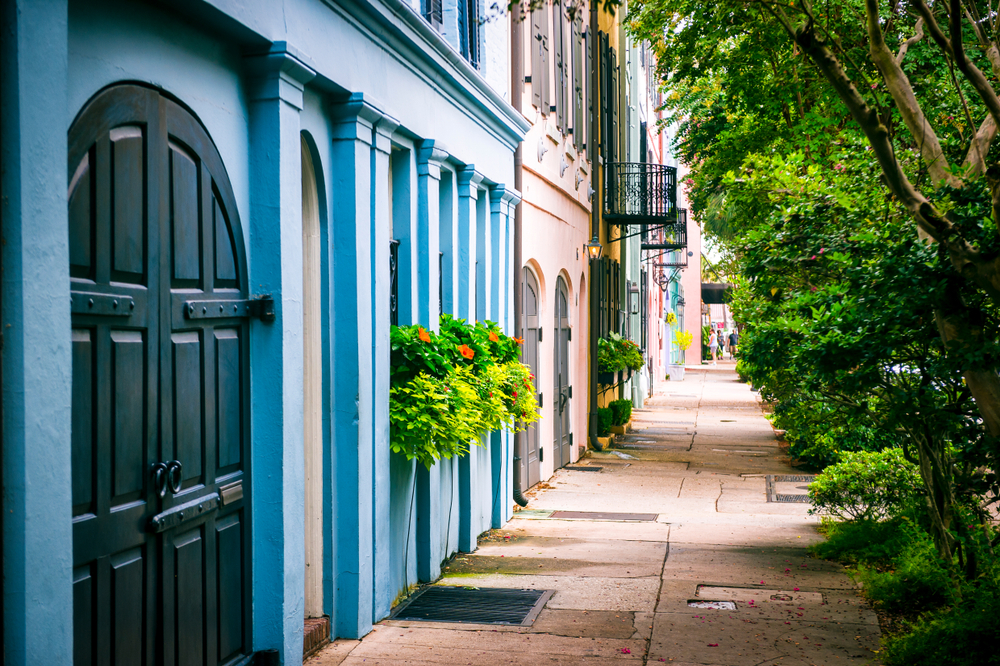 Walk down the historic streets in downtown Charleston