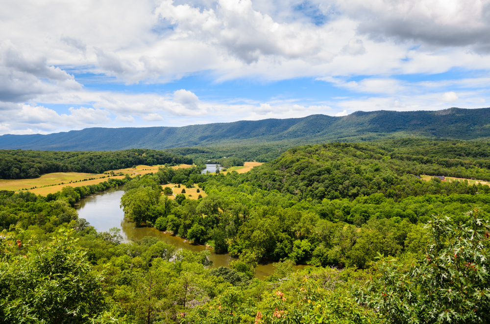 This southern state park is covered in beautiful wooded slopes