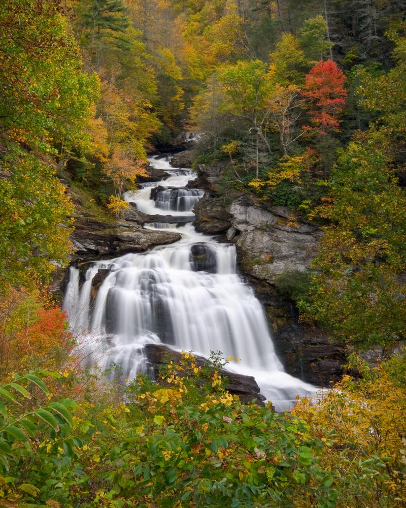 Beautiful waterfall in the fall, Callasaja Falls