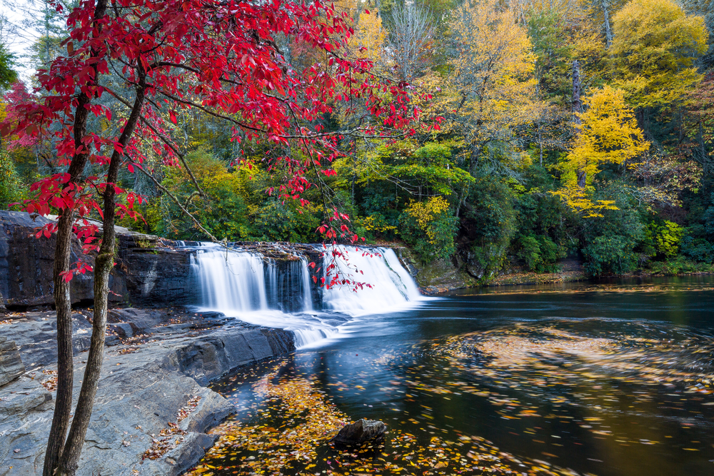 Hooker Falls in the fall