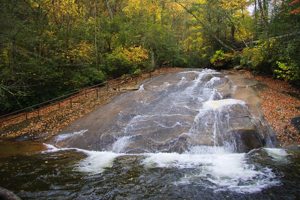Sliding Rock Falls in North Carolina