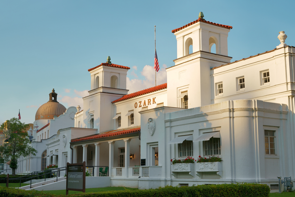 a photo of hot springs national park, one of the best romantic getaways in arkansas