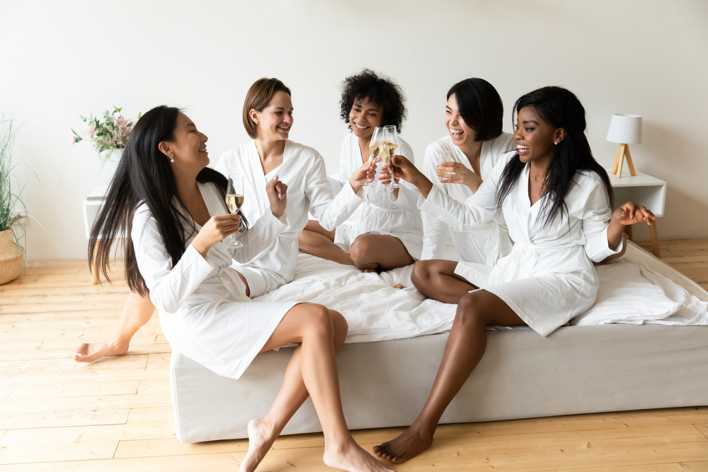 women at their bachelorette party in New Orleans