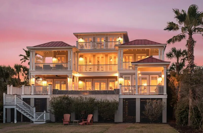 A photo of the gran Belle Mer Ocean Front home, a VRBO in Isle of Palms, South Carolina.