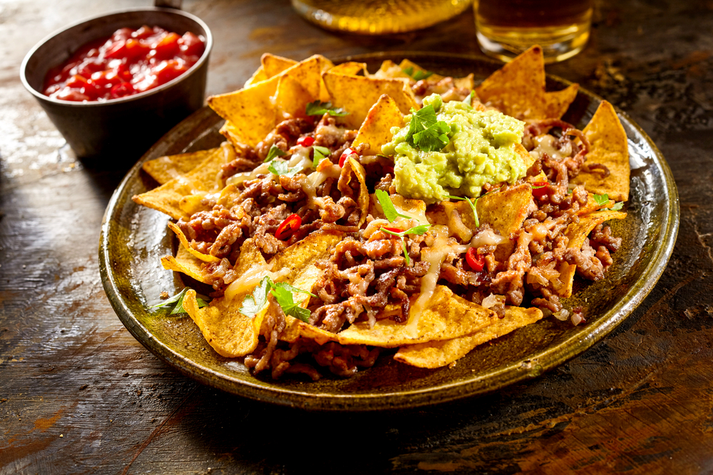 Photo of nachos, highlighting Mi Casa one of the best restaurants in Franklin NC.