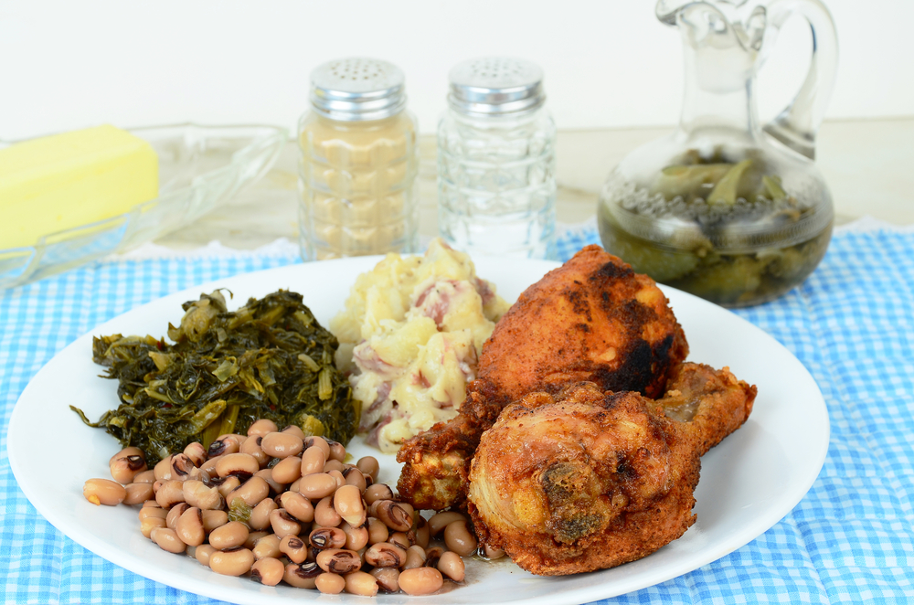 Photo of a southern lunch, highlighting Ms. Lois' Restaurant.