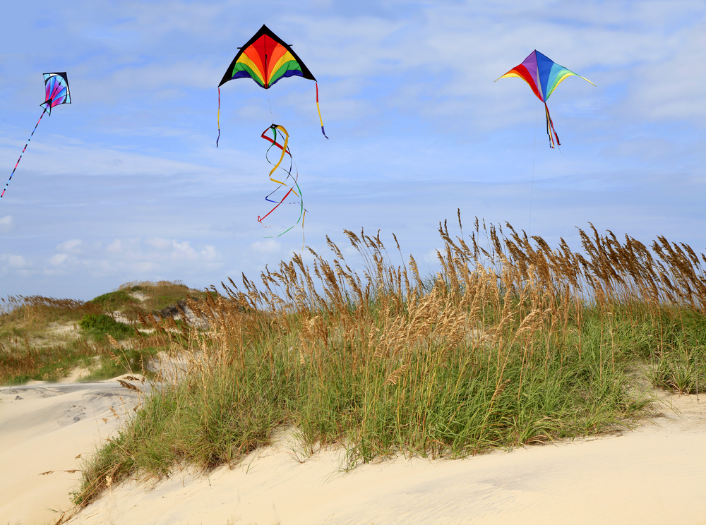 Photo of the Outer Banks Kite Festival, one of the best things to do in the Outer Banks.