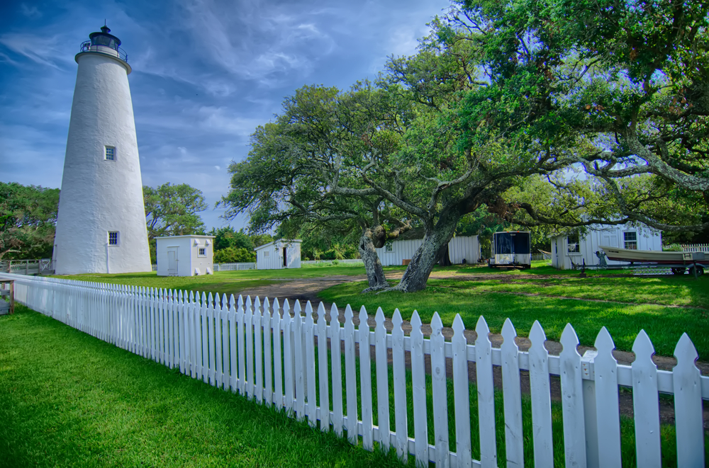 Photo of the Ocracoke Lighthouse, one of the best things to do in the Outer Banks.