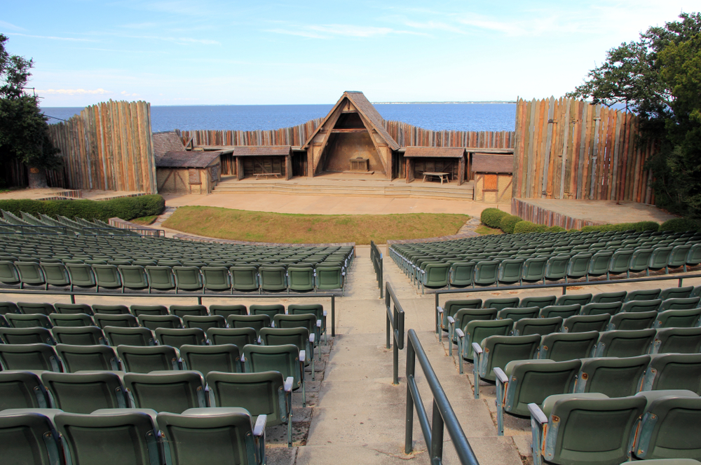 Photo of the theatre that hosts The Lost Colony, one of the most fun things to do in the Outer Banks.
