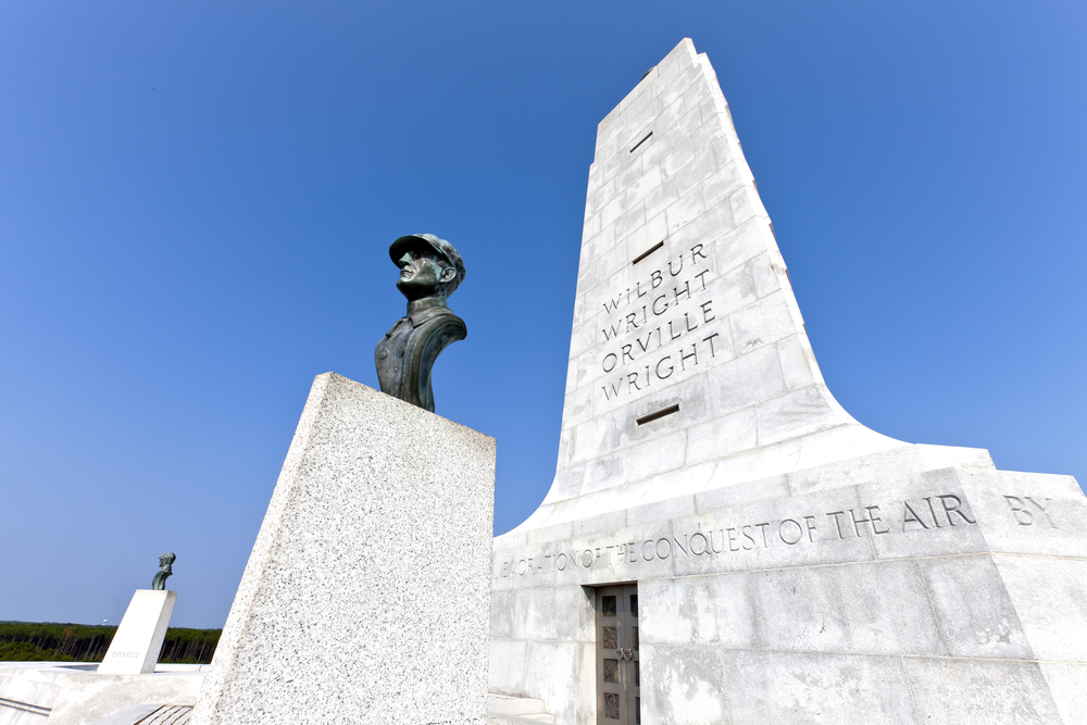 Photo of the Wright Brothers National Memorial.