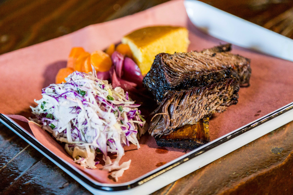 Try the Beef brisket bbq at Jim and Nicks in Nashville