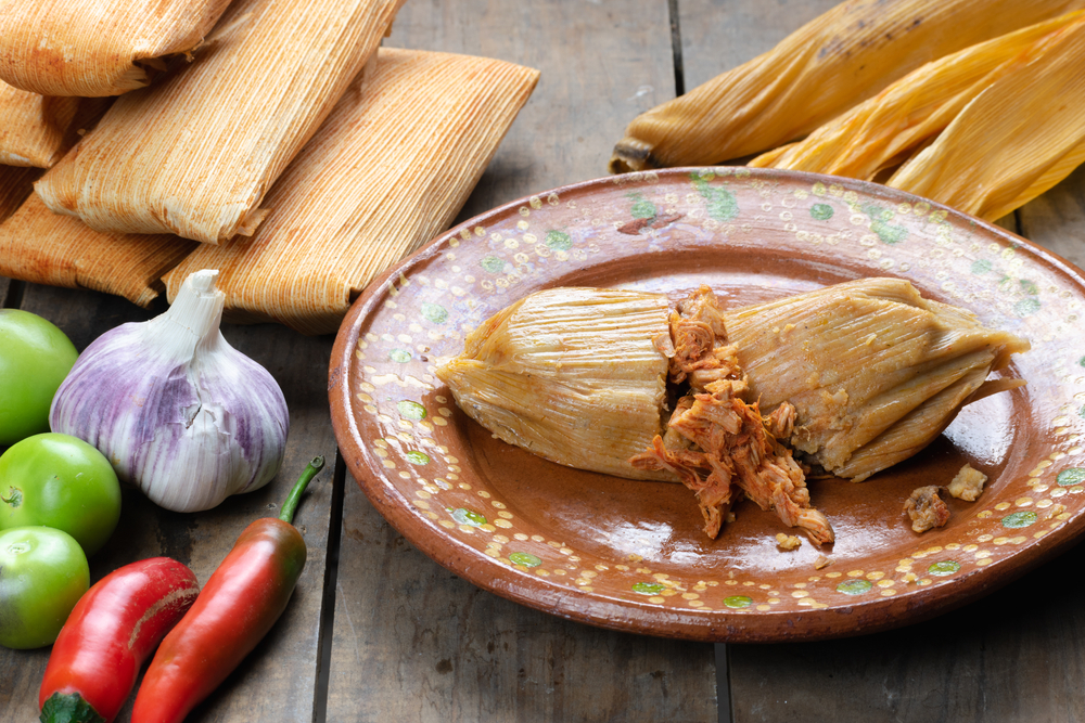 photo of tamales, one of the dishes you can find at one of the best restaurants in Huntsville