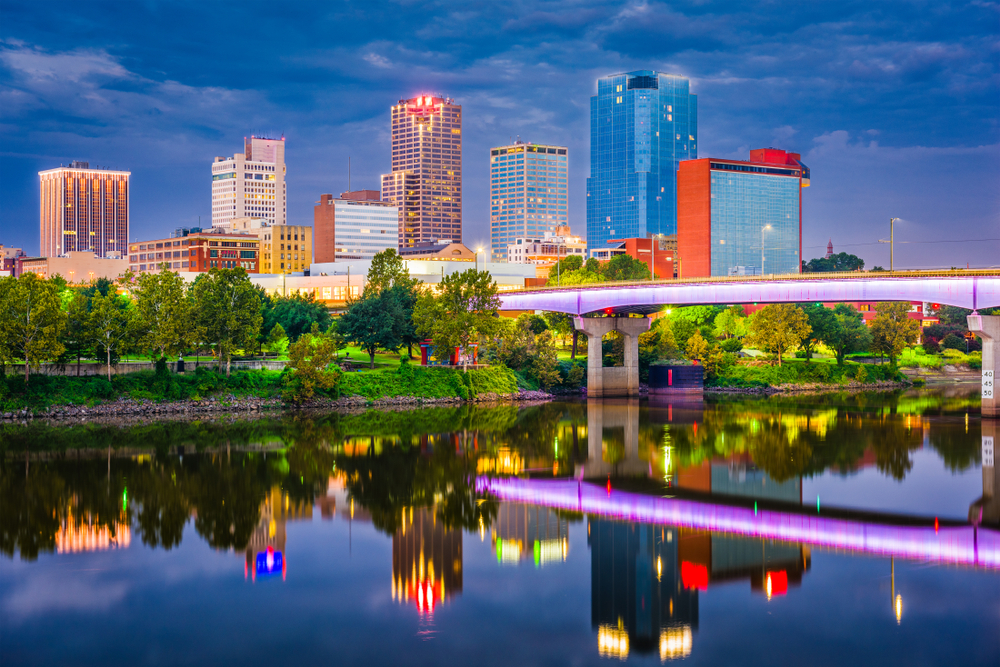 Little Rock is the capital of Arkansas and is located on the Arkansas River.