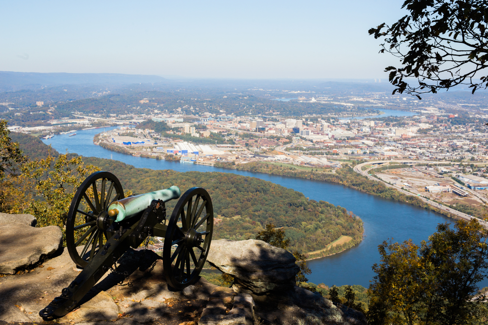 Photo of the overlook from Chickamauga to Chattanooga, one of the best national parks in Georgia.