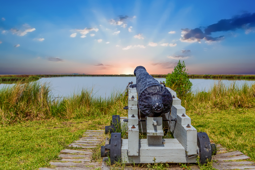 Photo of an old canon at Fort Frederica, one of the best national parks in Georgia.