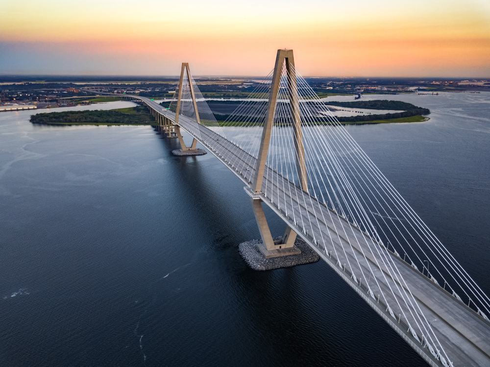 Photo of the Ravenel Bridge, one of the things to do in Charleston
