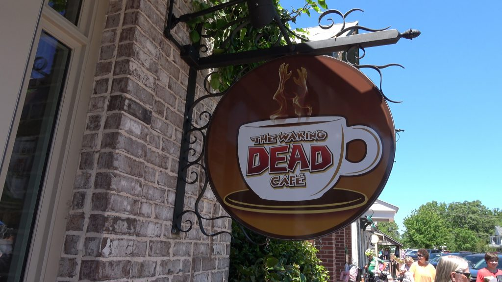 The Walking Dead Cafe, one of the most popular tourist attractions in Senoia, one of the best day trips from Atlanta.