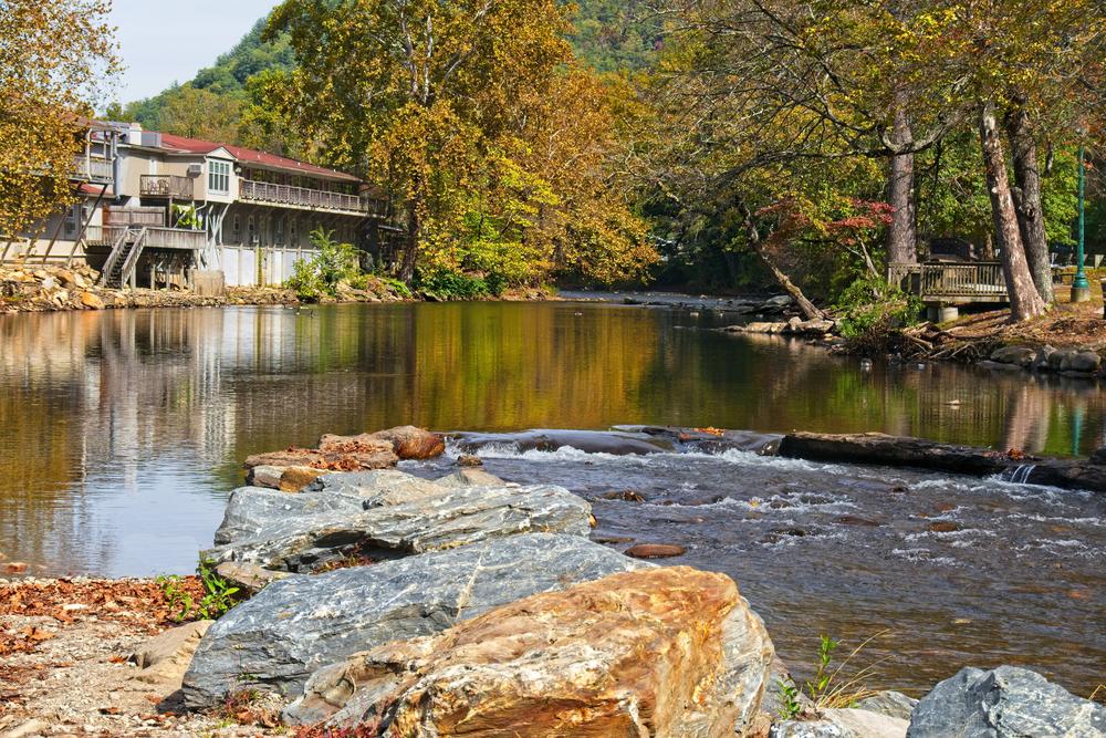 river in Cherokee, North Carolina