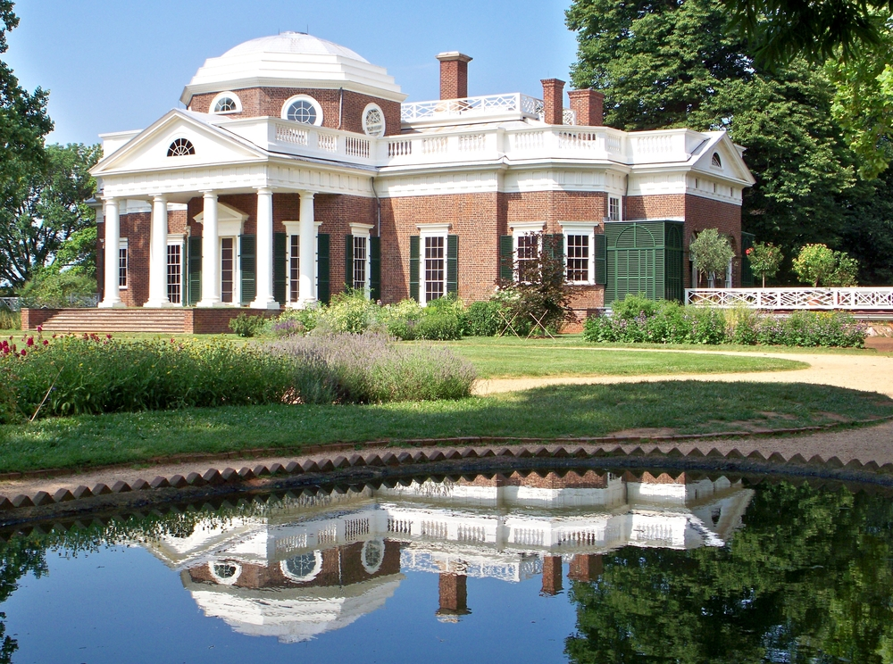 Thomas Jefferson's Monticello, one of the best places to visit in Virginia!