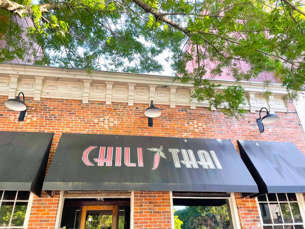 Photo of Chili Thai restaurant in downtown Columbus Georgia.