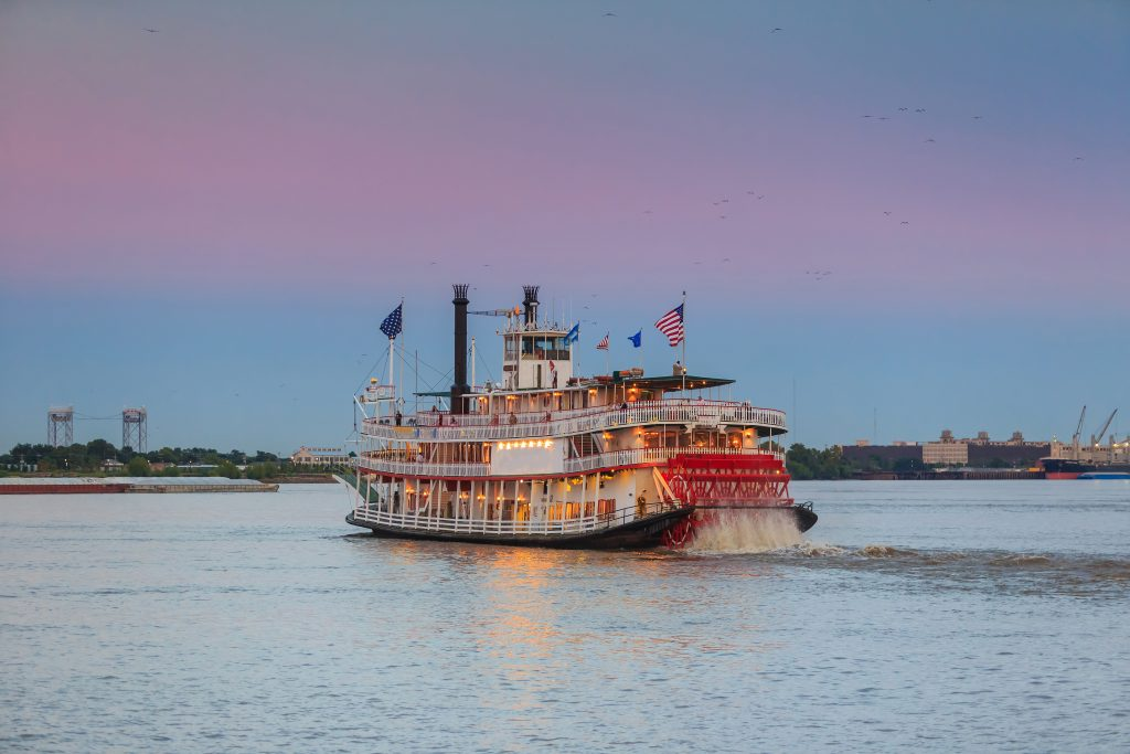 Going on a steamboat is one of the things to do in New Orleans
