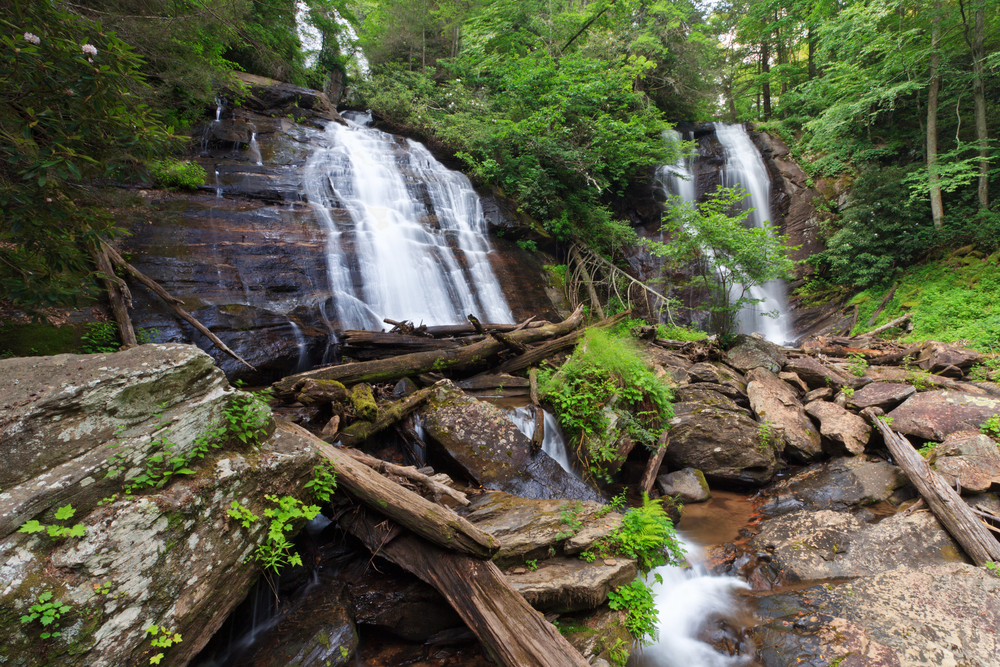 Photo of a waterfall in Unicoi State Park, one of the best things to do in Helen.