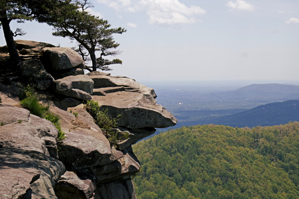 Photo of the summit view of Yonah Mountain, one of the best things to do in Helen.