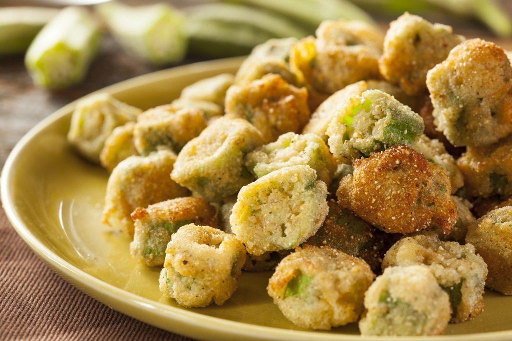 fried okra on a plate