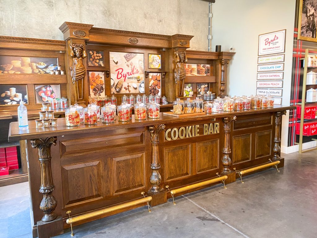 The Cookie Bar at Byrd's is lined with jars full of delicious treats at the Plant Riverside District.