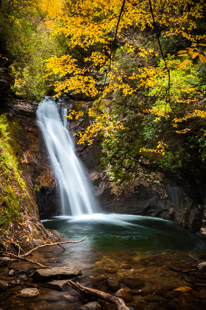 Courthouse Falls is very pretty in the fall.