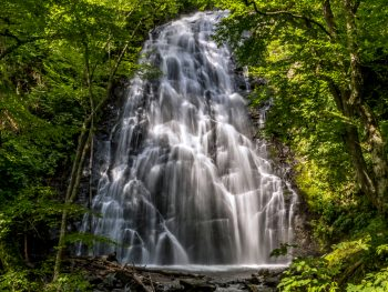 Crabtree Falls is one of the best waterfalls near Asheville.