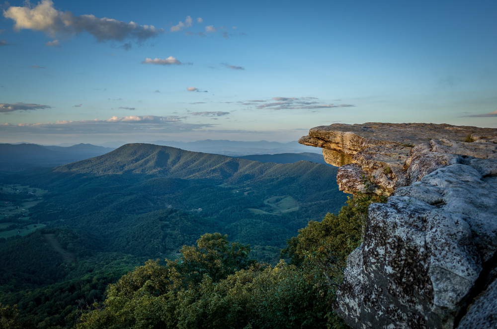 Hiking to McAfee Knob is one of the best outdoor things to do in Roanoke.