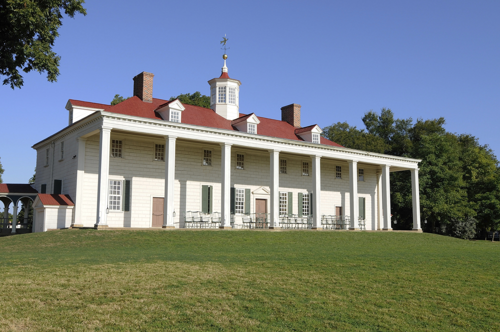 Mount Vernon is a must visit place on a presidential road trip in Virginia.