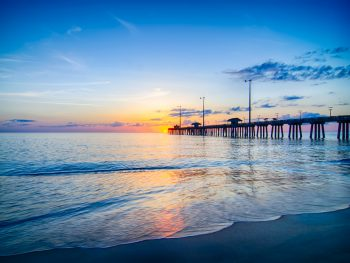 Nags Head Beach in the outer banks at sunrise