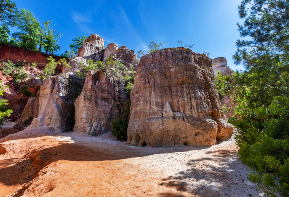 red clay floor at Providence Canyon State Park.