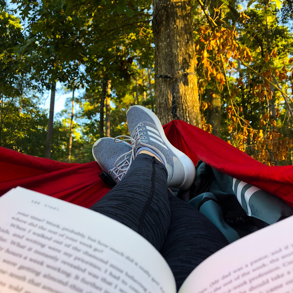 One of the great things to do in Conroe is sit in a hammock, reading a book between two trees in the W. Goodrich Jones State Forest.