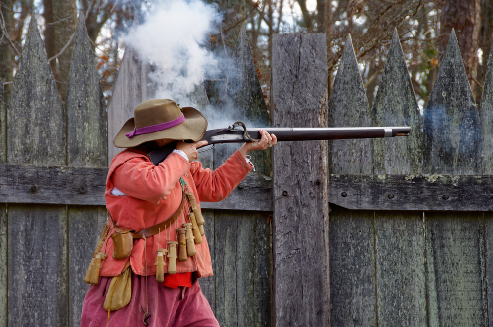 Firing a musket is one of the most fun things to do in Williamsburg.
