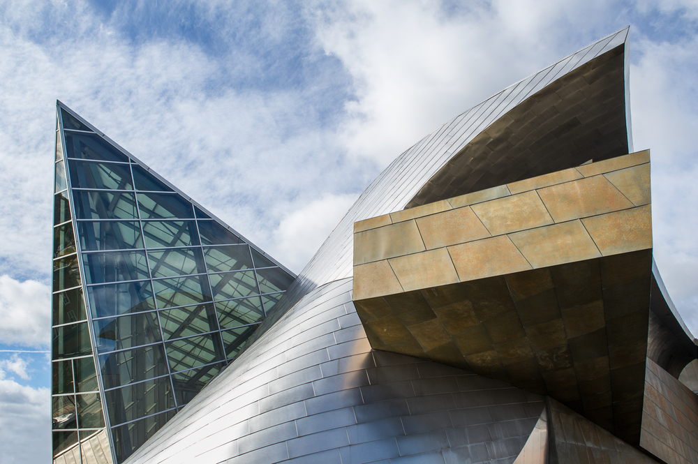 The Taubman Museum of Art in has a cool exterior.