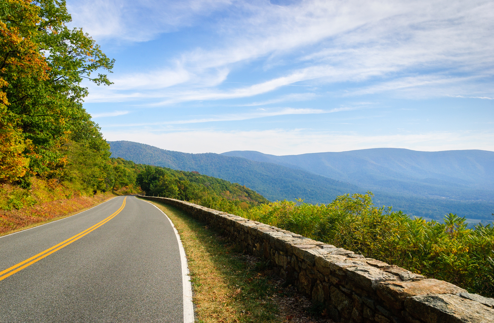 Shenandoah National Park is prefect for Virginia road trips.