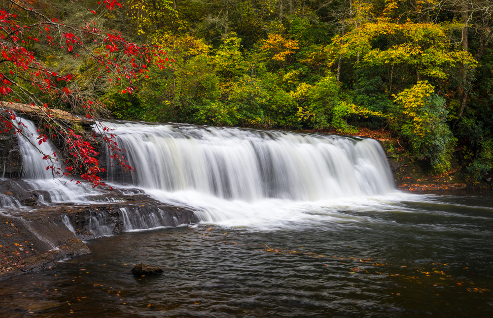 Hooker Falls is picturesque in the fall.