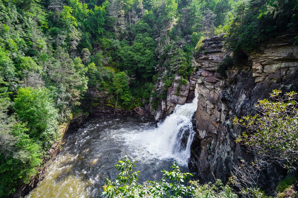 Linville Falls is a photographer's dream.