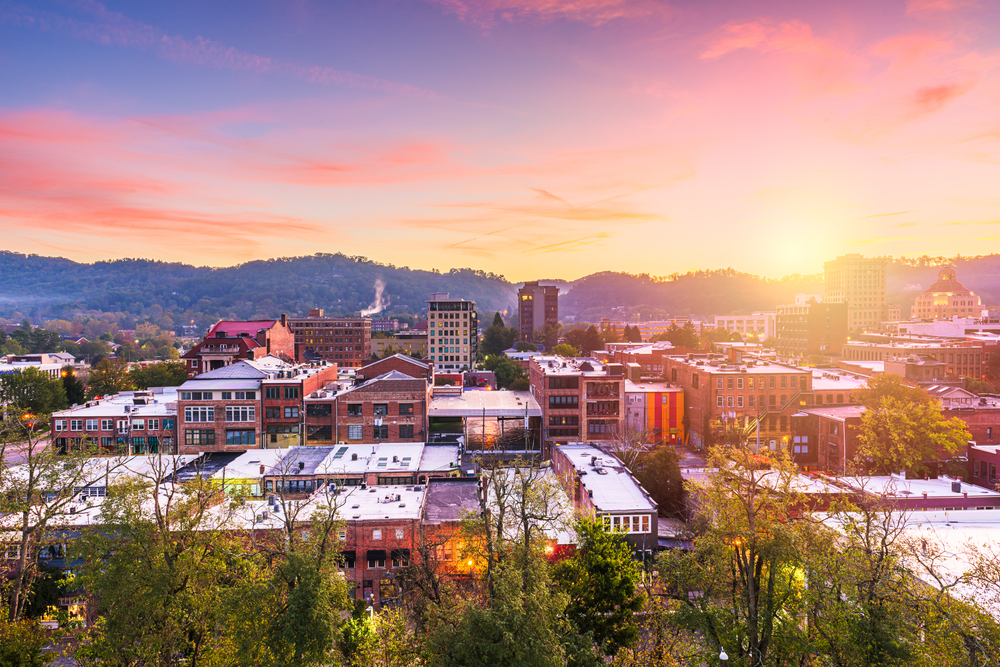 The city of Asheville is a great jumping off point for nature tours.