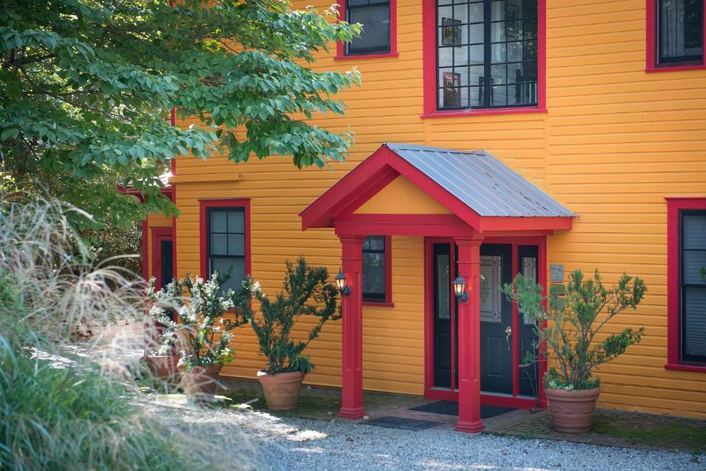A red and yellow bed and breakfast in Asheville