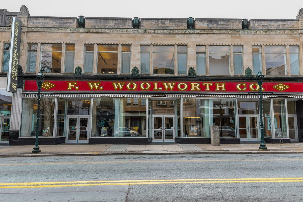 F.W. Woolworth, one of the best things to do in North Carolina where black students organized a sit-in at the whites only lunch counter.