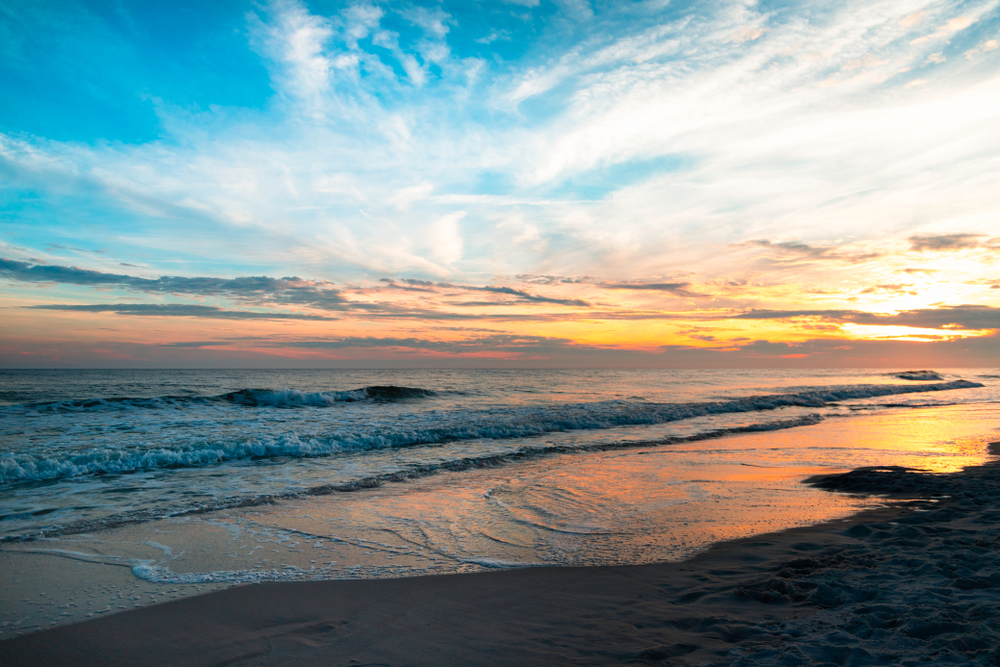 A gorgeous sunset over Orange Beach, Alabama.
